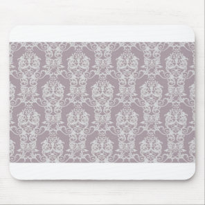 Amethyst Damask Mouse Pad