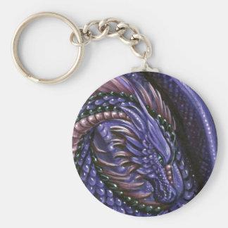 Amethyst Dragon Keychain