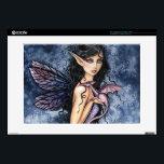 "Amethyst Dragon Purple Fairy Fantasy Art 15&quot; Laptop Skin<br><div class=""desc"">&quot;Amethyst Dragon&quot; &#169; Molly Harrison  www.mollyharrisonart.com</div>"
