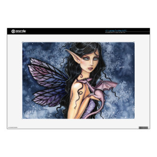 "Amethyst Dragon Purple Fairy Fantasy Art 15"" Laptop Skin"