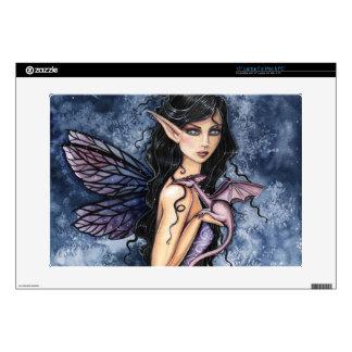 "Amethyst Dragon Purple Fairy Fantasy Art 15"" Laptop Skin"