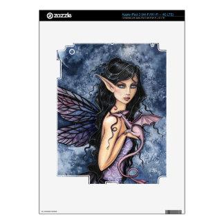 Amethyst Dragon Purple Fairy Fantasy Art Skin For iPad 3