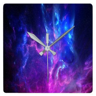 Amethyst Dreams Square Wall Clock