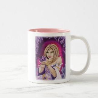 Amethyst Elf Two-Tone Coffee Mug