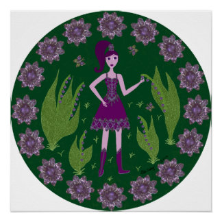 Amethyst Faerie Perfect Poster