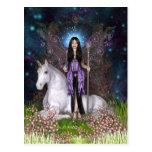 Amethyst Fairy and Unicorn Postcard