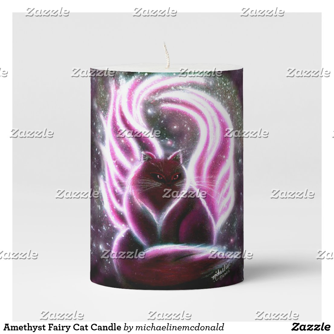 Amethyst Fairy Cat Candle