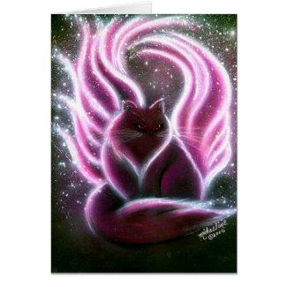 Amethyst Fairy Cat Card