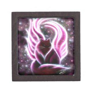 Amethyst Fairy Cat Keepsake Box