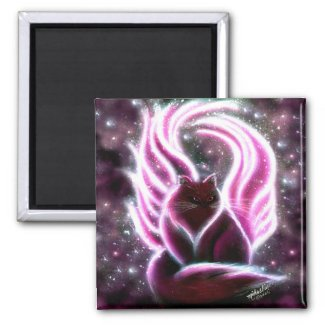 Amethyst Fairy Cat Magnet