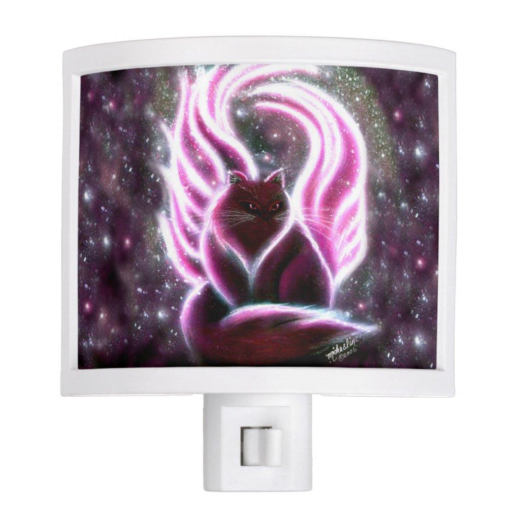 Amethyst Fairy Cat Night Light