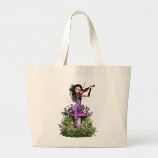 Amethyst Fairy ~ Sweet Melody Large Tote Bag