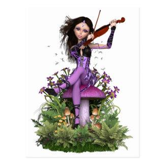 Amethyst Fairy ~ Sweet Melody Postcard