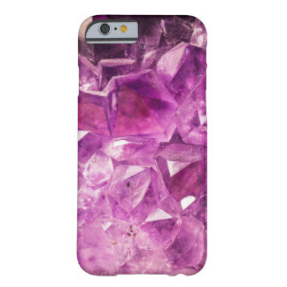 Amethyst faux geode crystal gemstone photo hipster barely there iPhone 6 case