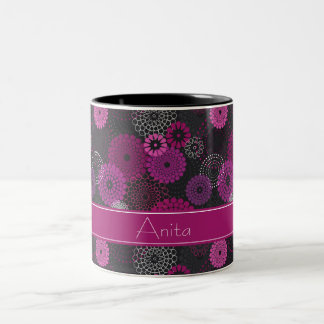 Amethyst Floral Burst Print Mugs