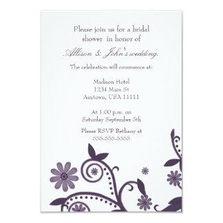 Amethyst Floral Swirls Bridal Shower Invitation
