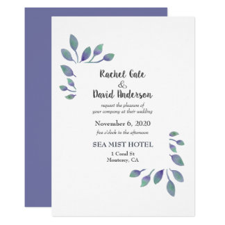 Amethyst Foliage Wedding Invitation