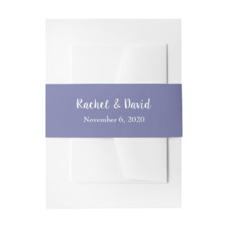 Amethyst Foliage Wedding Invitation Belly Band
