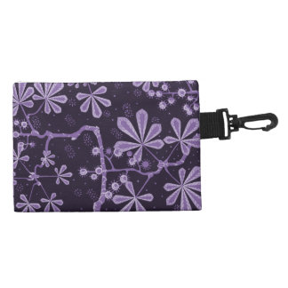 Amethyst Frost Flower Accessory Bag