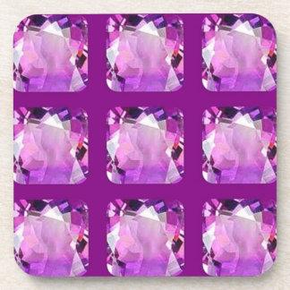 Amethyst Gems February Birthday by SHARLES Beverage Coaster