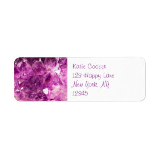 Amethyst Gemstone Image Shiny and Sparkly Label