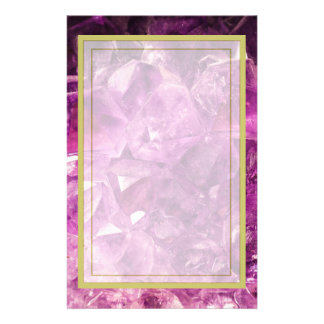 Amethyst Gemstone Image Shiny and Sparkly Stationery