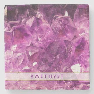 Amethyst Gemstone Image Shiny and Sparkly Stone Coaster