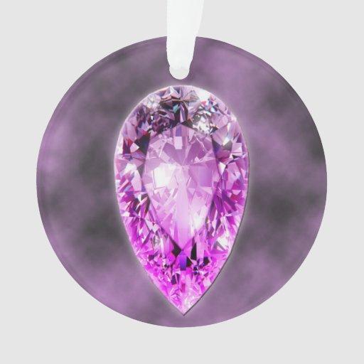 amethyst gemstone ornament zazzle