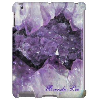 Amethyst Geode 3D iPad case Personalize*
