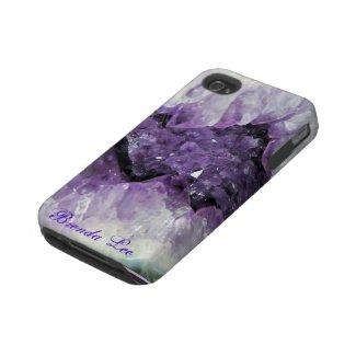 Amethyst Geode 3D iPhone 4 case casemate_case