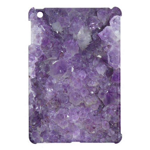 Amethyst Geode Gemstone Faux Texture Photo iPad Mini Cover