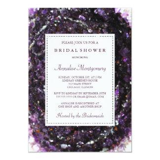 Amethyst Geode Purple Bridal Shower Invitation