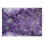 Amethyst Geode - Violet Crystal Gemstone Greeting Card