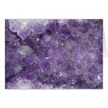 Amethyst Geode - Violet Crystal Gemstone Cards