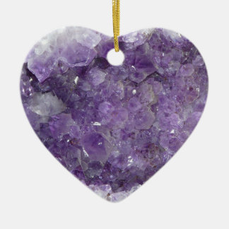 Amethyst Geode - Violet Crystal Gemstone Ceramic Ornament