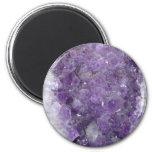 Amethyst Geode - Violet Crystal Gemstone 2 Inch Round Magnet
