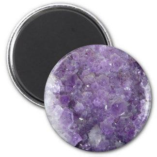 Amethyst Geode - Violet Crystal Gemstone Fridge Magnet