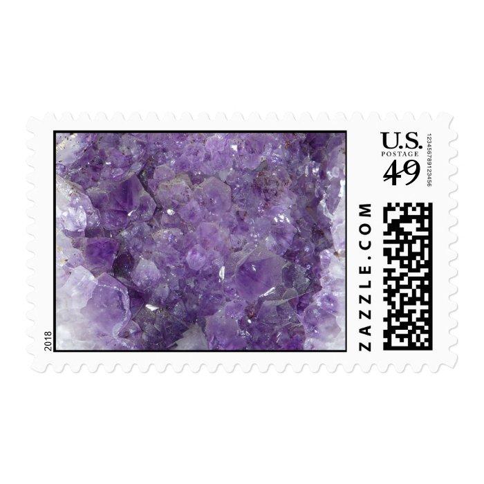 Amethyst Geode - Violet Crystal Gemstone Postage