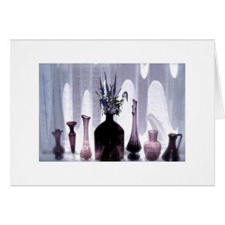 Amethyst glass still life card