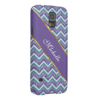 Amethyst Glass Zigzag Pattern Case For Galaxy S5