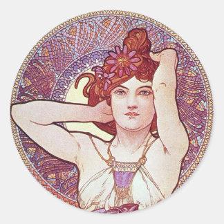 Amethyst Goddess Round Sticker