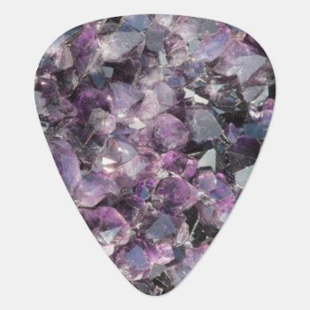 Amethyst Guitar Pick by ingasi at Zazzle