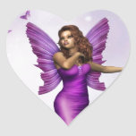 Amethyst Heart Sticker