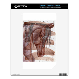Amethyst Horse On Chocolate Wash Decals For NOOK Color