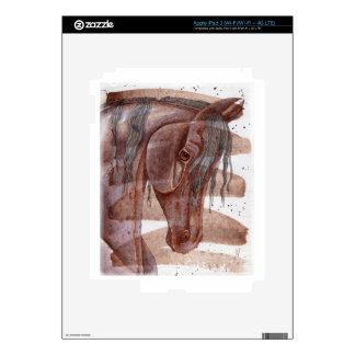 Amethyst Horse On Chocolate Wash Skins For iPad 3