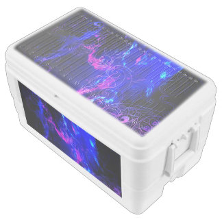 Amethyst Iridescent Koi Chest Cooler