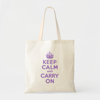 Amethyst Keep Calm and Carry On Tote Bag