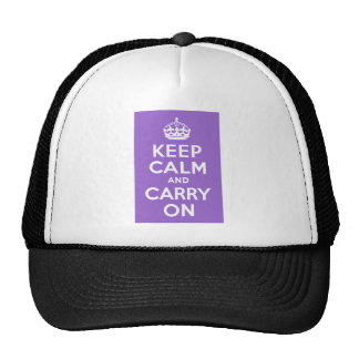 Amethyst Keep Calm and Carry On Trucker Hats