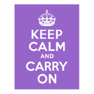 Amethyst Keep Calm and Carry On Postcard