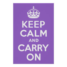 Amethyst Keep Calm and Carry On Posters